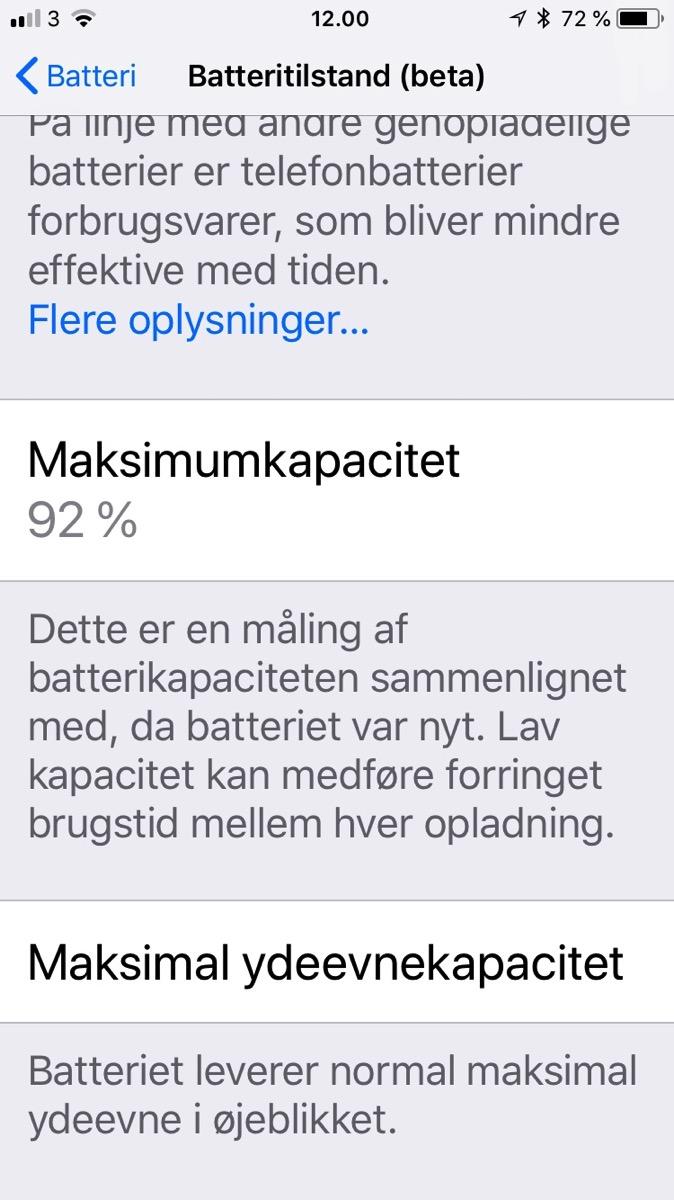 iPhone Beta batterie