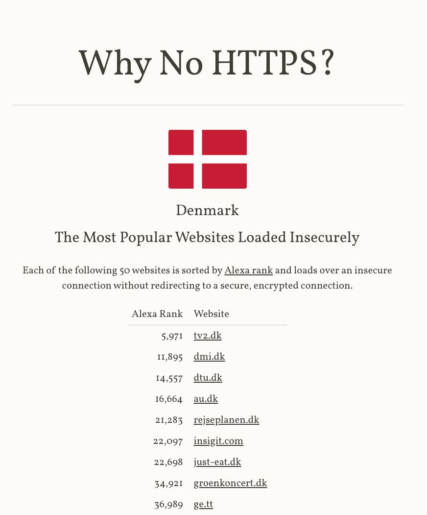 """GoogIe Chrome brugere får besked om at """"din hjemmeside IKKE er sikker"""""""