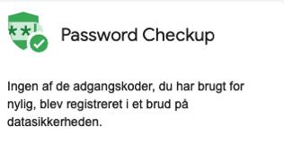 Google Usikre password